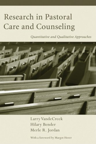 Research in Pastoral Care and Counseling Quantitative and Qualitative Approaches N/A edition cover