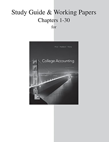 College Accounting: Chapters 1-30  2014 edition cover