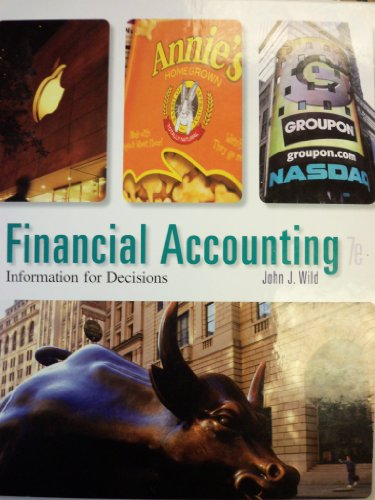 Financial Accounting: Information for Decisions  2014 9780078025891 Front Cover