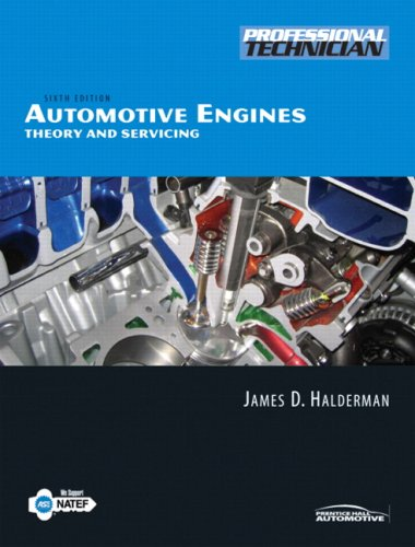 Automotive Engines Theory and Servicing 6th 2009 edition cover