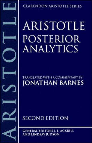 Posterior Analytics  2nd 1994 (Revised) edition cover