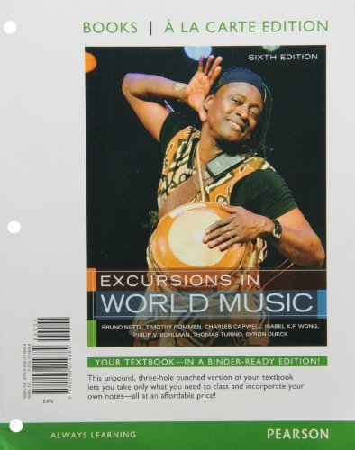 Excursions in World Music  6th 2012 edition cover