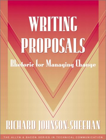 Writing Proposals Rhetoric for Managing Change  2002 edition cover