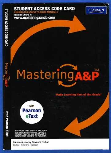 ANATOMY MASTERING A+P-ACCESS CODE N/A edition cover