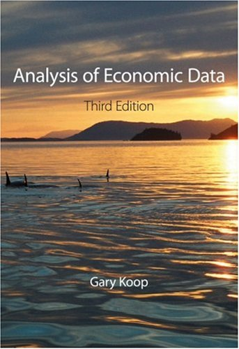 Analysis of Economic Data  3rd 2009 9780470713891 Front Cover
