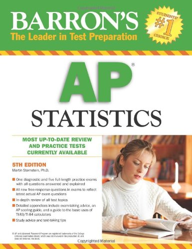 Barron's AP Statistics  5th 2010 (Revised) edition cover