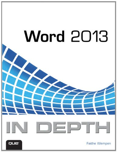 Word 2013 in Depth   2013 edition cover