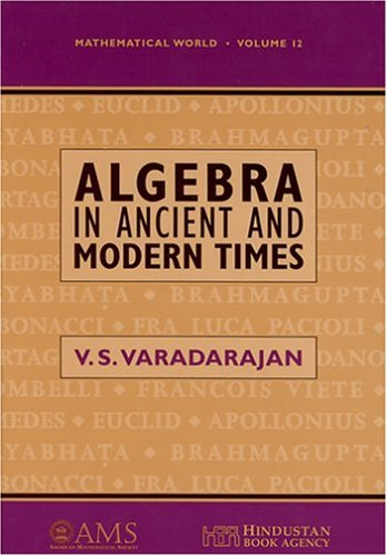 Algebra in Ancient and Modern Times   1998 edition cover