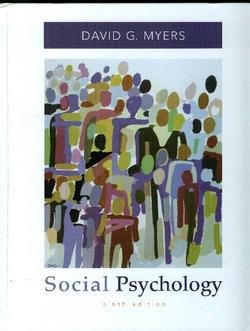 Social Psychology  9th 2008 edition cover