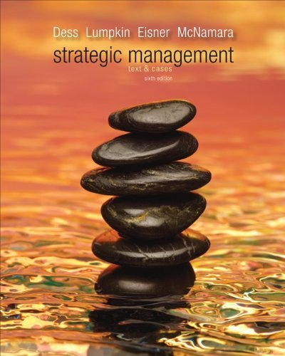 Strategic Management Text and Cases 6th 2012 9780077575892 Front Cover