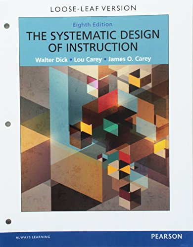 SYSTEMATIC DESIGN OF INSTRUCTION-ACCESS N/A 9780133822892 Front Cover