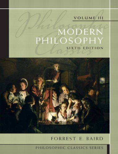 Modern Philosophy  6th 2010 edition cover