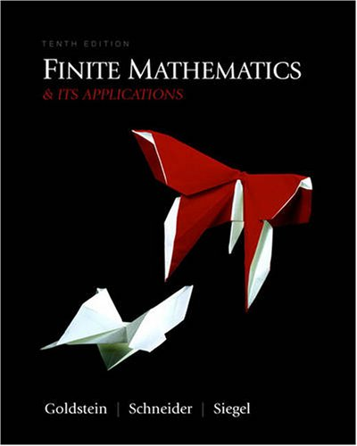 Finite Mathematics and Its Applications  10th 2010 9780321571892 Front Cover