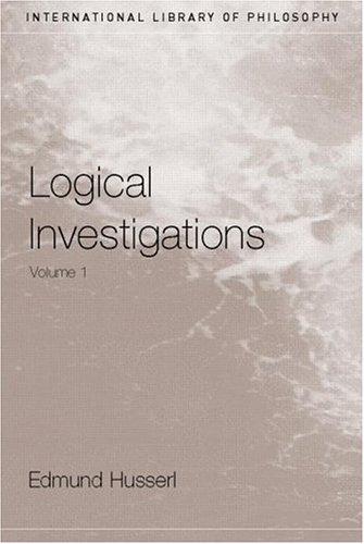 Logical Investigations   2001 edition cover