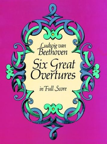 Six Great Overtures in Full Score  Reprint edition cover