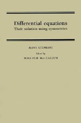 Differential Equations Their Solution Using Symmetries  1989 edition cover