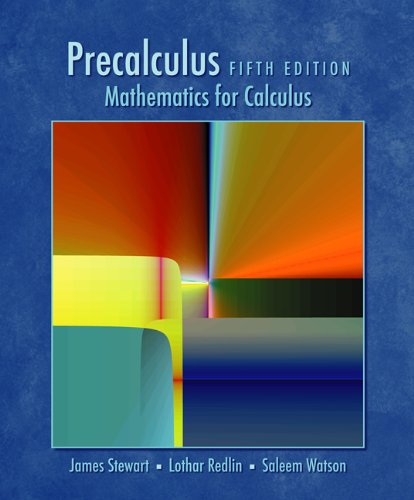 Precalculus Mathematics for Calculus 5th 2006 (Guide (Pupil's)) 9780534492892 Front Cover