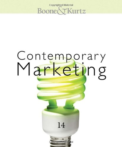 Contemporary Marketing 2011  14th 2011 edition cover