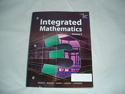 Hmh Integrated Math 3:   2014 9780544389892 Front Cover