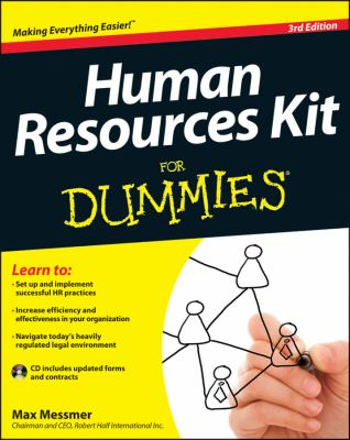 Human Resources Kit for Dummies�  3rd 2013 edition cover