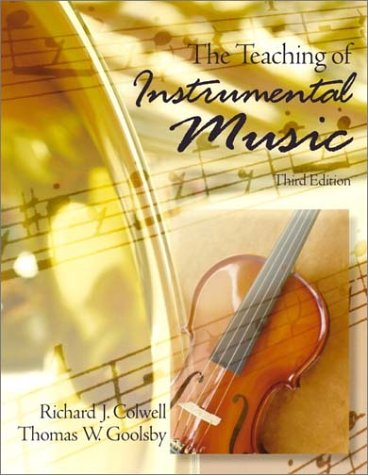 Teaching of Instrumental Music  3rd 2002 9780130206893 Front Cover