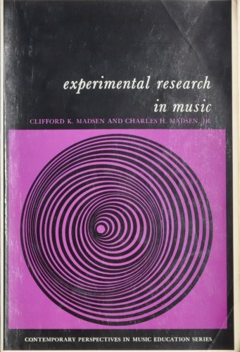 Experimental Research in Music  8th 2014 edition cover
