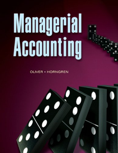 Managerial Accounting   2010 edition cover