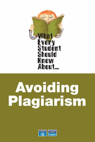 What Every Student Should Know about Avoiding Plagiarism   2007 edition cover
