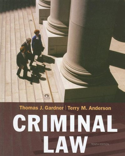 Criminal Law  10th 2009 edition cover