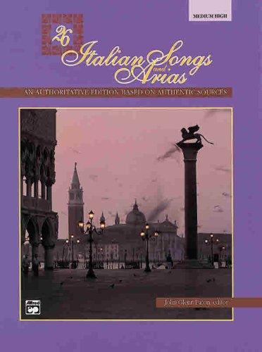 26 Italian Songs and Arias Medium High Voice  1991 edition cover
