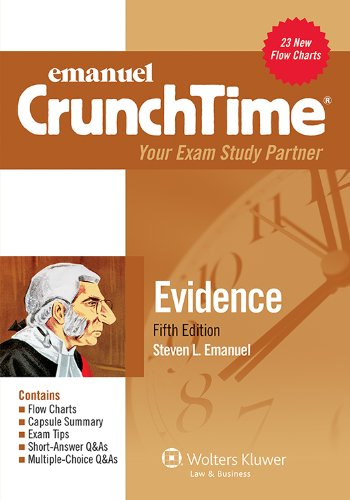 Emanuel Crunchtime - Evidence Your Exam Study Partner 5th (Student Manual, Study Guide, etc.) edition cover