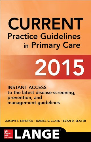 CURRENT Practice Guidelines in Primary Care 2015  13th 2015 edition cover