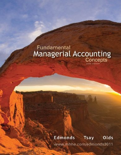 Fundamental Managerial Accounting Concepts  6th 2011 edition cover