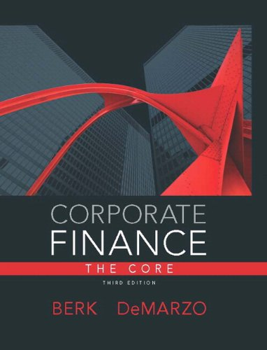 Corporate Finance, the Core  3rd 2014 edition cover