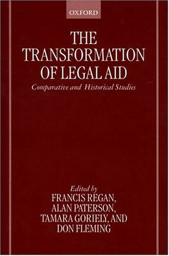 Transformation of Legal Aid Comparative and Historical Studies  1999 edition cover