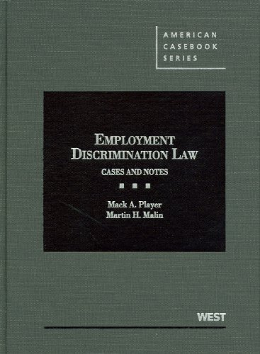 Player and Malin's Employment Discrimination Law Cases and Notes N/A edition cover