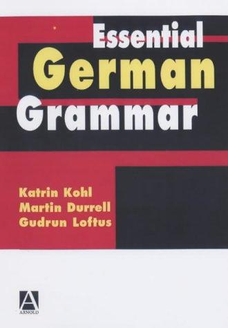 Essential German Grammar   2002 edition cover