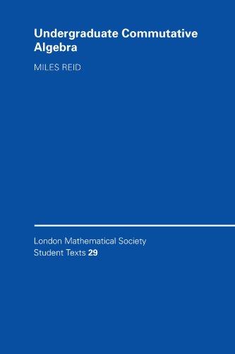 Undergraduate Commutative Algebra   1995 edition cover