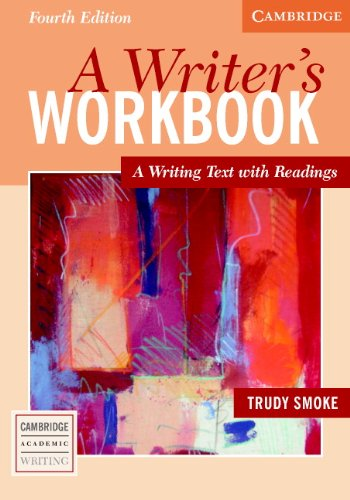 Writer's Workbook A Writing Text with Readings 4th 2005 (Revised) edition cover