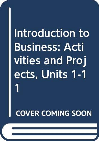 Introduction to Business  3rd 1997 (Workbook) 9780538656894 Front Cover