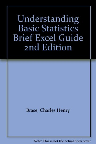 Understanding Basic Statistics : Excel Guide 2nd 2001 (Brief Edition) 9780618060894 Front Cover