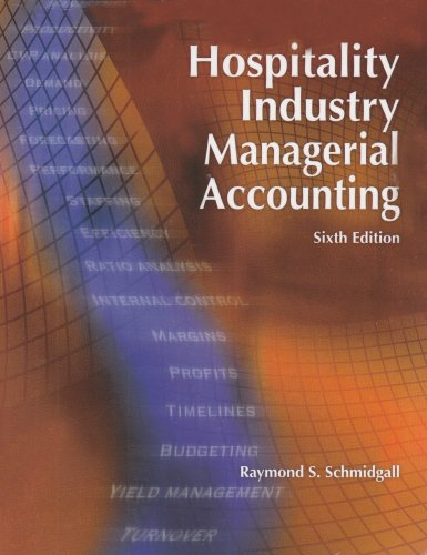 Hospitality Industry Managerial Accounting  6th 2006 edition cover