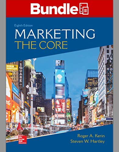 MARKETING:CORE (LL)-W/CONNECT ACCESS    N/A 9781260691894 Front Cover