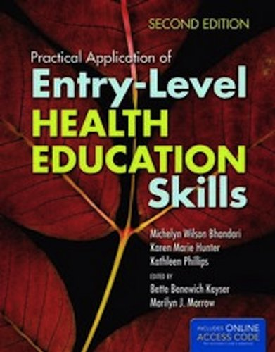 Practical Application of Entry-Level Health Education Skills  2nd 2013 edition cover