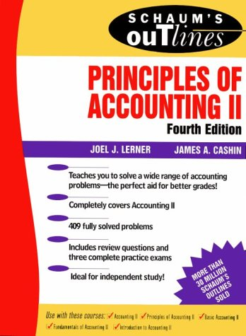 Schaum's Outline of Principles of Accounting II  4th 1994 (Revised) edition cover