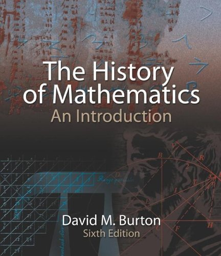 History of Mathematics An Introduction 6th 2007 (Revised) edition cover