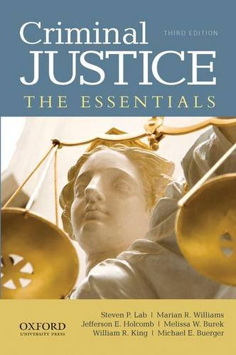 Criminal Justice: The Essentials  2012 edition cover
