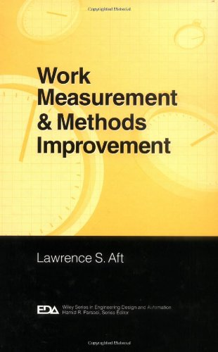 Work Measurement and Methods Improvement   2000 9780471370895 Front Cover