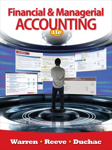 Financial and Managerial Accounting  11th 2012 9780538480895 Front Cover