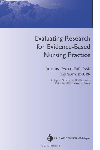 Evaluating Research for Evidence-Based Nursing Practice   2009 edition cover